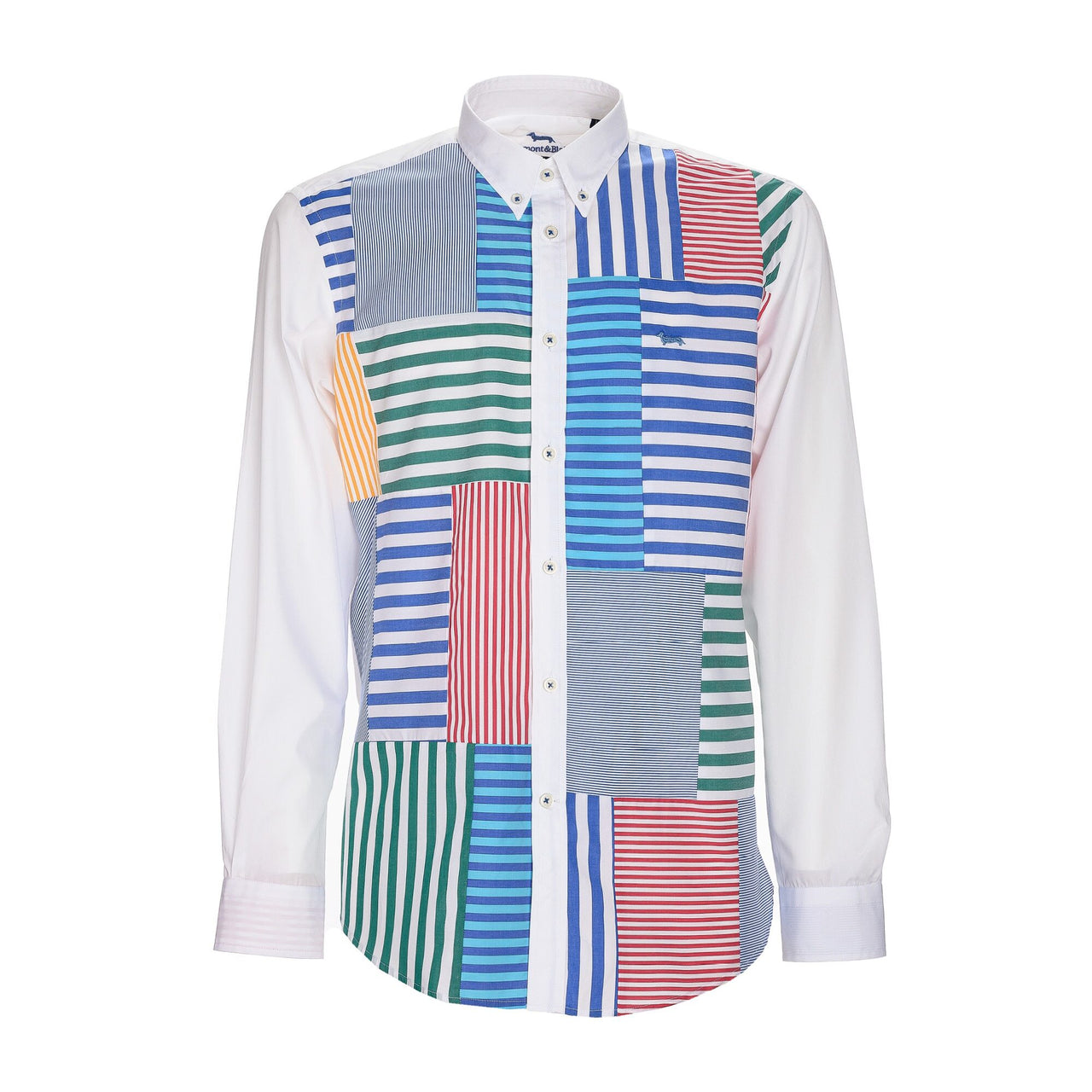Harmont & Blaine Striped Patchwork Shirt - Multicolor