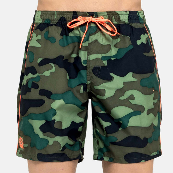 Sundek Men's Mid-Length Swim Trunks - Deep Forest Green