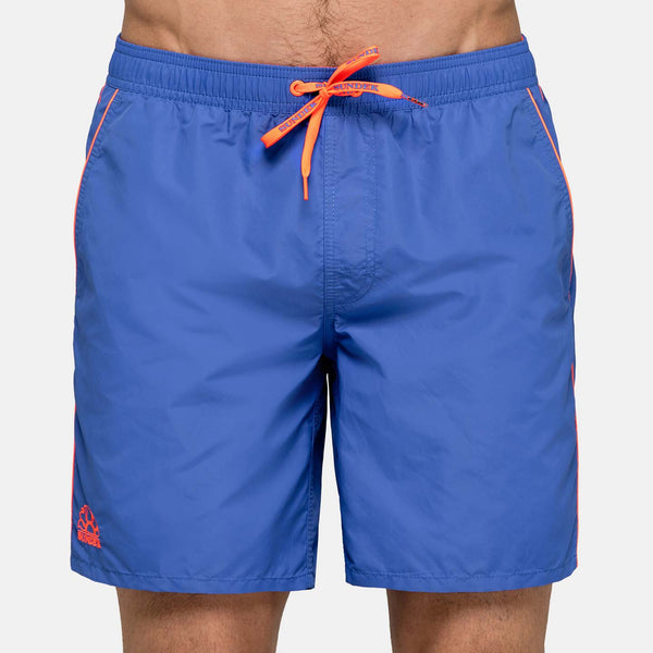 Sundek Men's Solid Mid-Length Swim Trunks - Sapphire