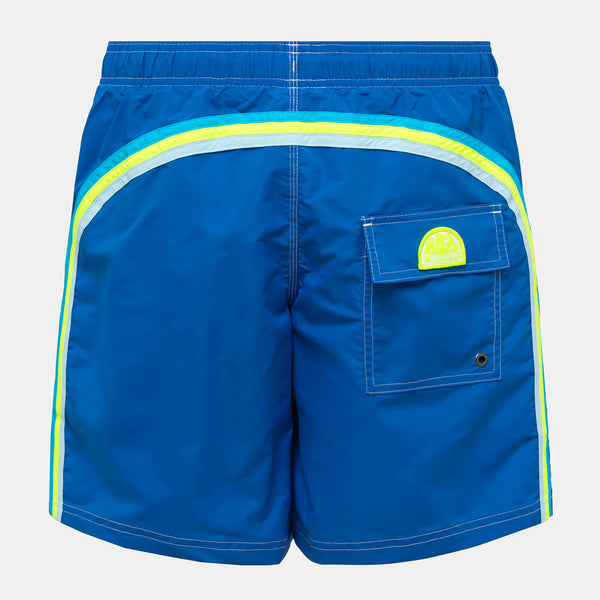 Sundek Men's Rainbow Mid-Length Swim Trunks - Ocean