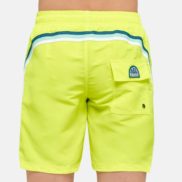 Sundek Men's Rainbow Mid-Length Swim Trunks - Wow Yellow