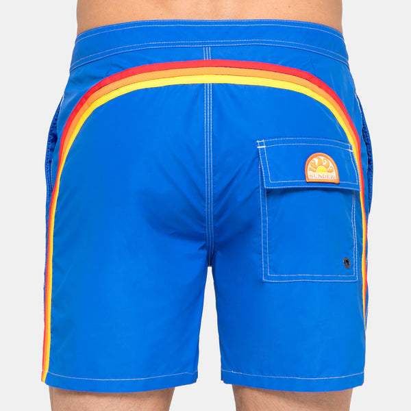 Sundek Men's Rainbow Mid-Length Swim Trunks - Vintage Ocean