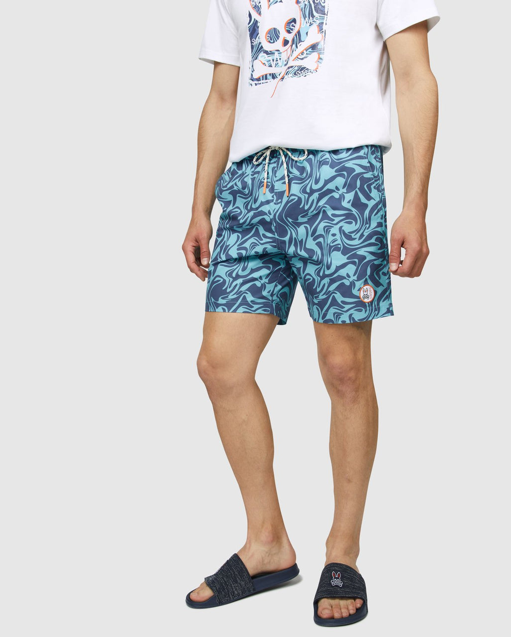 Psycho Bunny Men's Askim Swim Trunks - Navy