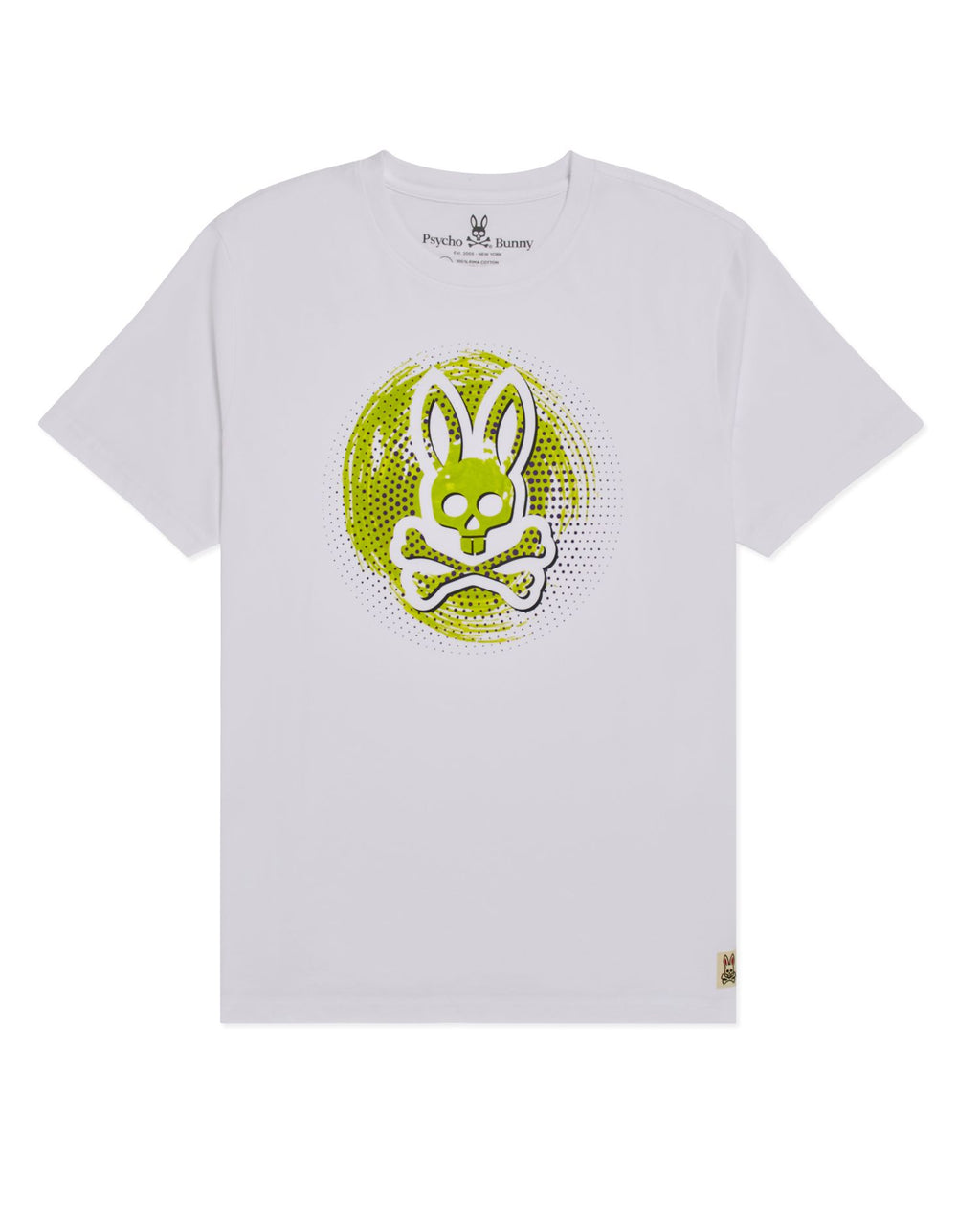 Psycho Bunny Boy's Downey Graphic Tee - White
