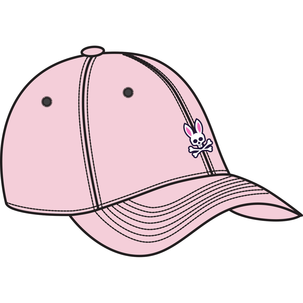 Psycho Bunny Men's Baseball Cap - Oxford Pink