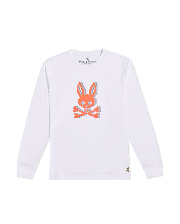 Psycho Bunny Boy's Hatton Long Sleeve Graphic Tee - White