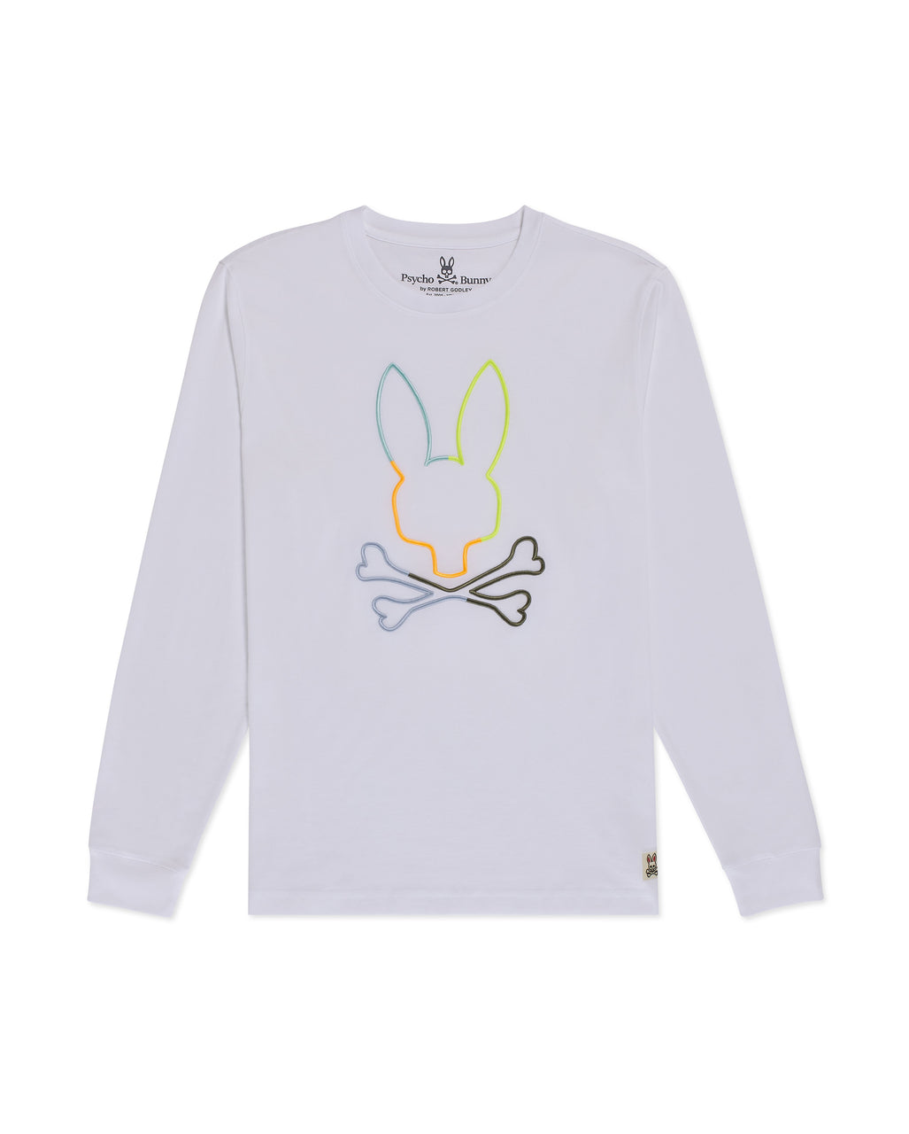Psycho Bunny Boy's Sheffield Long Sleeve Graphic Tee - White