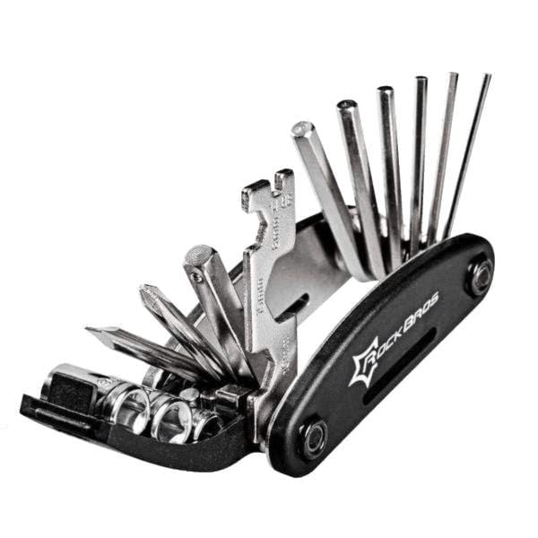 16 in 1 Bicycle Repair Tools Kit Black