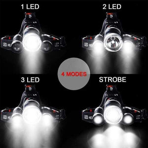 4 Switch Mode LED Headlamp
