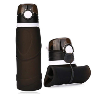 Treat Jungle Black Collapsible Silicone Bottle 14655792-black-united-states