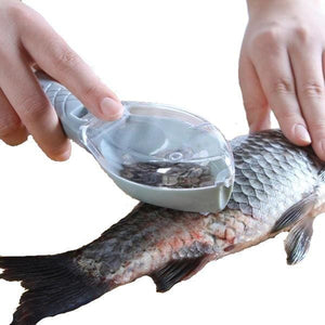 Fish Scale Remover With Lid