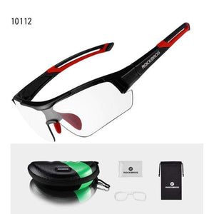 TreatJungle Red Photochromic Cycling Glasses Myopia Frame 10436954-red