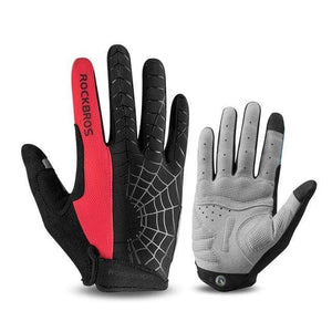 TreatJungle Spider 1 red / L Windproof Touch Screen Cycling Gloves 8359333-spider-1-red-l