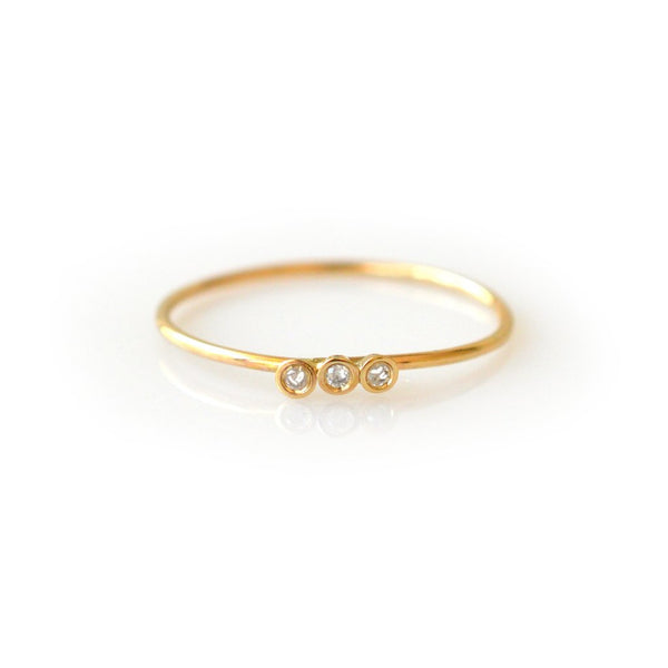 14kt Diamond Trio Ring