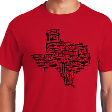 Load image into Gallery viewer, Red Texas Gun State Shirt