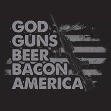 Load image into Gallery viewer, God Guns Beer Bacon America Shirt