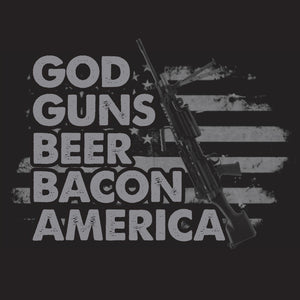 God Guns Beer Bacon America Shirt