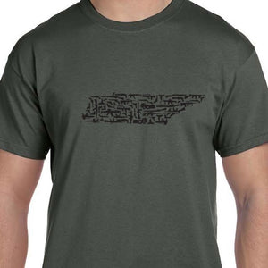 Tennessee Gun State Shirt Military Weapon