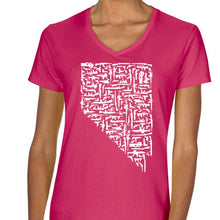 Load image into Gallery viewer, Pink Women Nevada Gun State Shirt