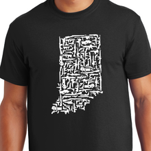 Load image into Gallery viewer, Indiana Gun State Shirt AK47 AR15 1911 Glock
