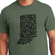 Load image into Gallery viewer, Indiana gun state shirt military