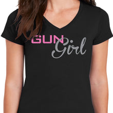 Load image into Gallery viewer, Gun Girl V Neck