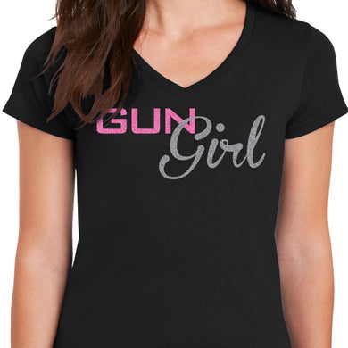 Gun Girl V Neck