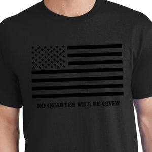 Black American Flag Shirt treason
