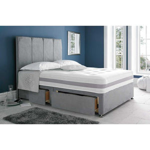 4'6 Solo Memory Divan Set + 2 Drawers + Headboard