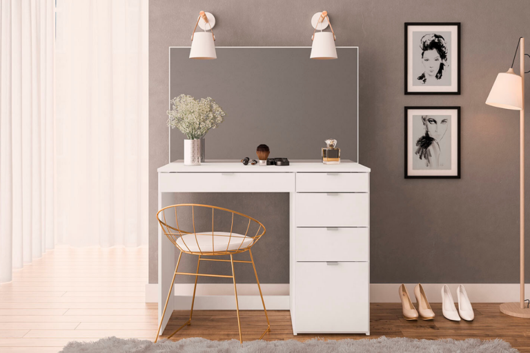 Ava 5 Drawer Dressing Table & Mirror