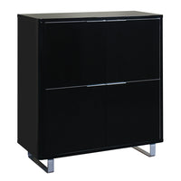 Accent 4 Drawer Storage Unit Black