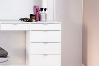 Chloe 7 Drawer Dressing Table & Mirror