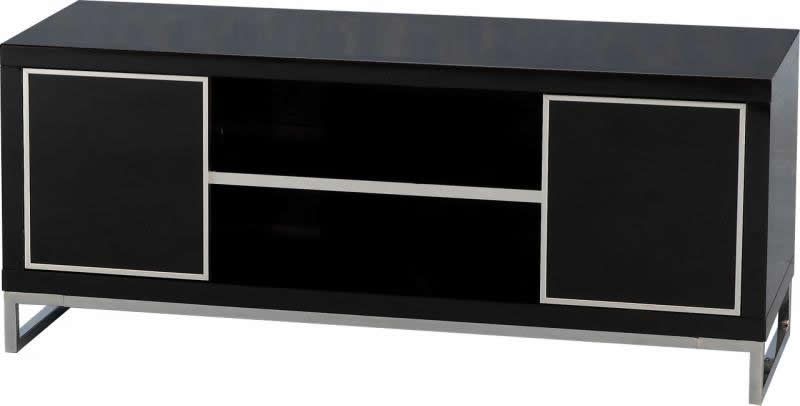 Charisma 2 Door TV Unit - Black Gloss