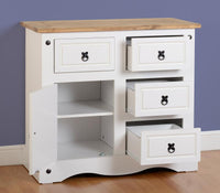 Corona 1 Door 4 Drawer Sideboard