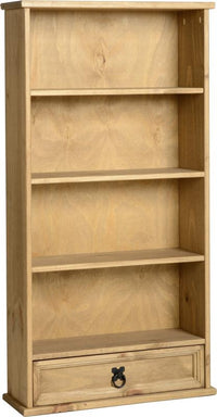 Corona 1 Drawer DVD Rack- Distressed Waxed Pine
