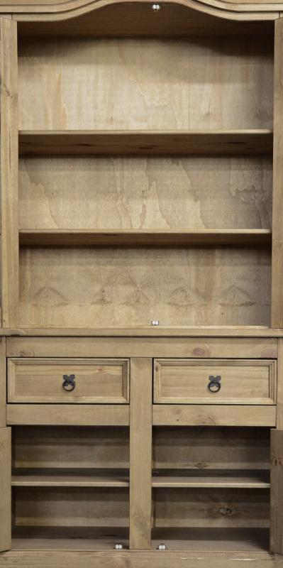 Corona 3' Buffet Hutch - Distressed Waxed Pine