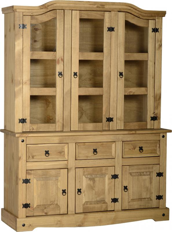"Corona 4'6"" Buffet Hutch - Distressed Waxed Pine"