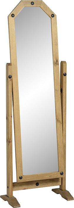 Corona Cheval Mirror - Distressed Waxed Pine