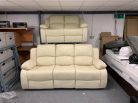 Cream Recliner 3 Seater & 2 Seater Bonded Leather