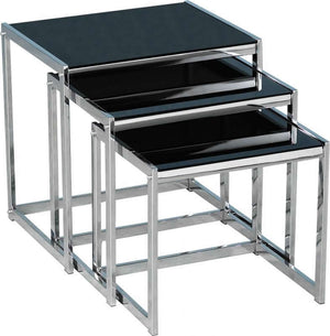 Hanley Nest of Tables - Black Glass
