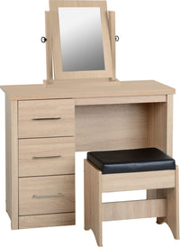 Lisbon 3 Piece Dressing Table Set with Mirror