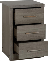 Lisbon 3 Drawer Bedside Chest
