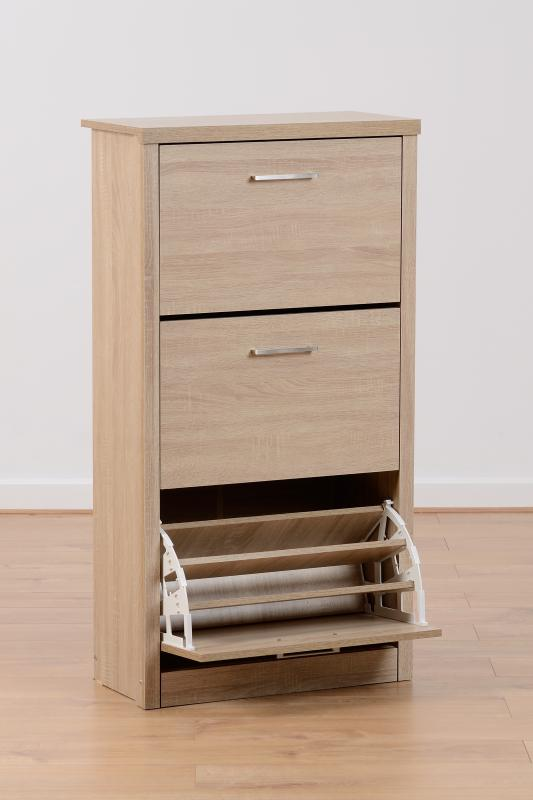 Lisbon Shoe Cabinet - Light Oak Effect Veneer