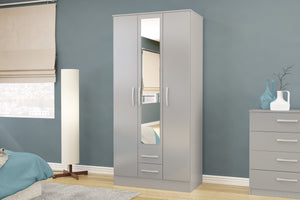 Lynx 3 Door 2 Drawer Robe with Mirror