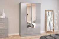 Lynx 4 Door 2 Drawer Robe with Mirror