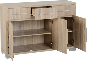 Milan 3 Door 3 Drawer Sideboard
