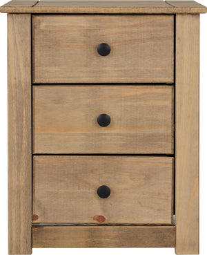 Panama 3 Drawer Bedside Chest
