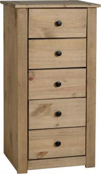 Panama 5 Drawer Narrow Chest