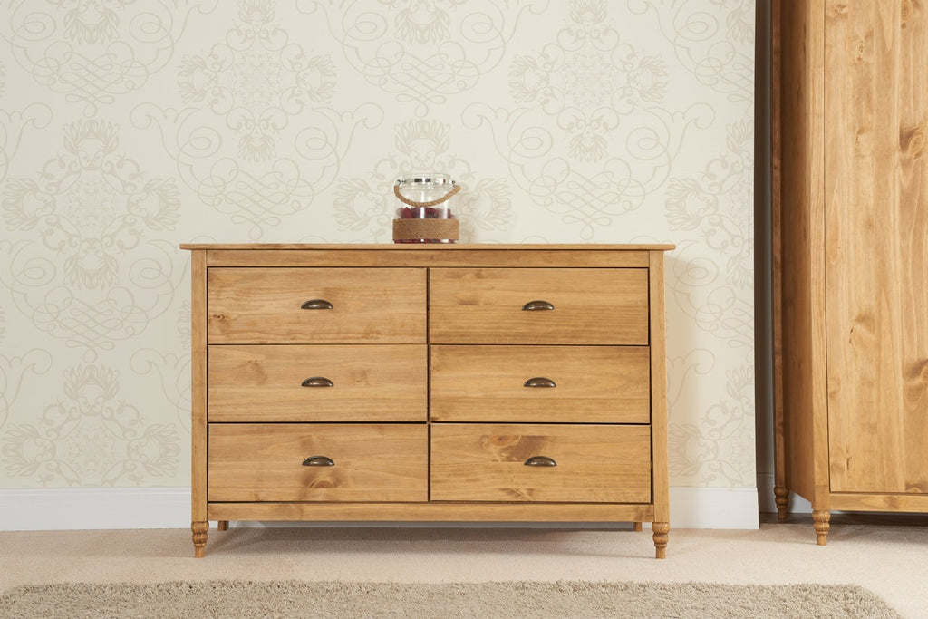 Pembroke 6 Drawer Wide Chest