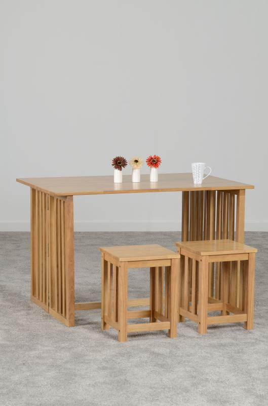 Richmond Foldaway Dining Set in Oak Varnish